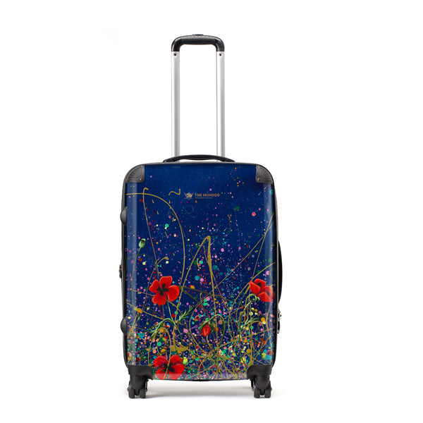 Jennifer Hogwood, The McMoos, Poppy Evening - Large Suitcase