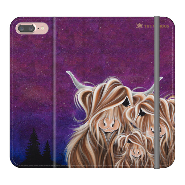 Jennifer Hogwood, The McMoos, Stars In The Highland- Folio Wallet Phone Case