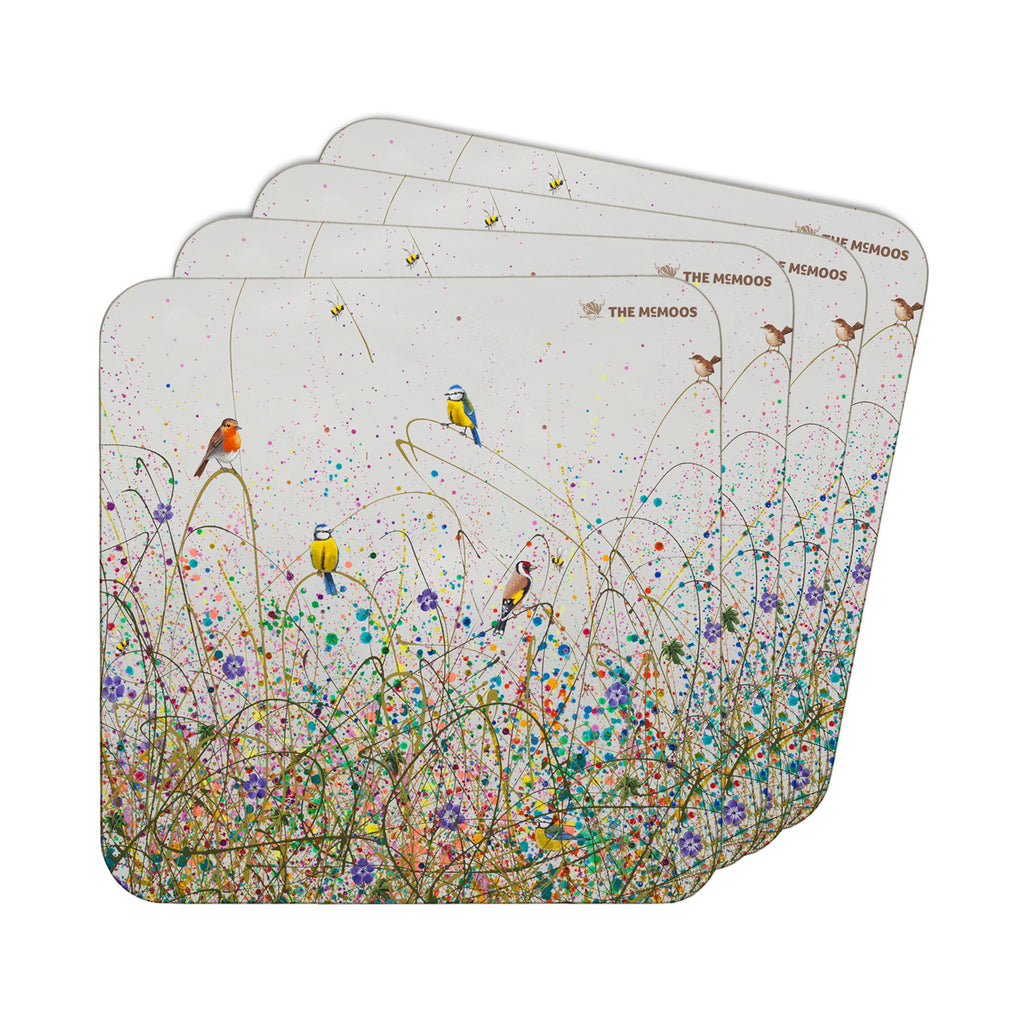 Jennifer Hogwood, The McMoos, Wild Meadow - Coasters