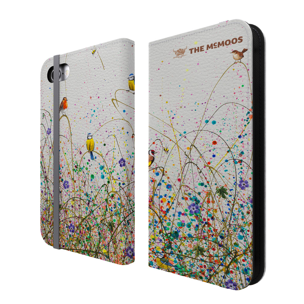 Jennifer Hogwood, The McMoos, Wild Meadow - Folio Wallet Phone Case