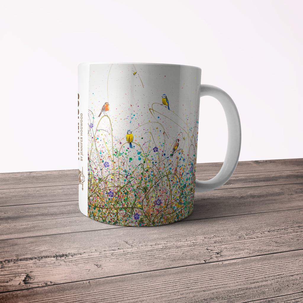 Jennifer Hogwood, The McMoos, Wild Meadow - 11oz Ceramic Mug