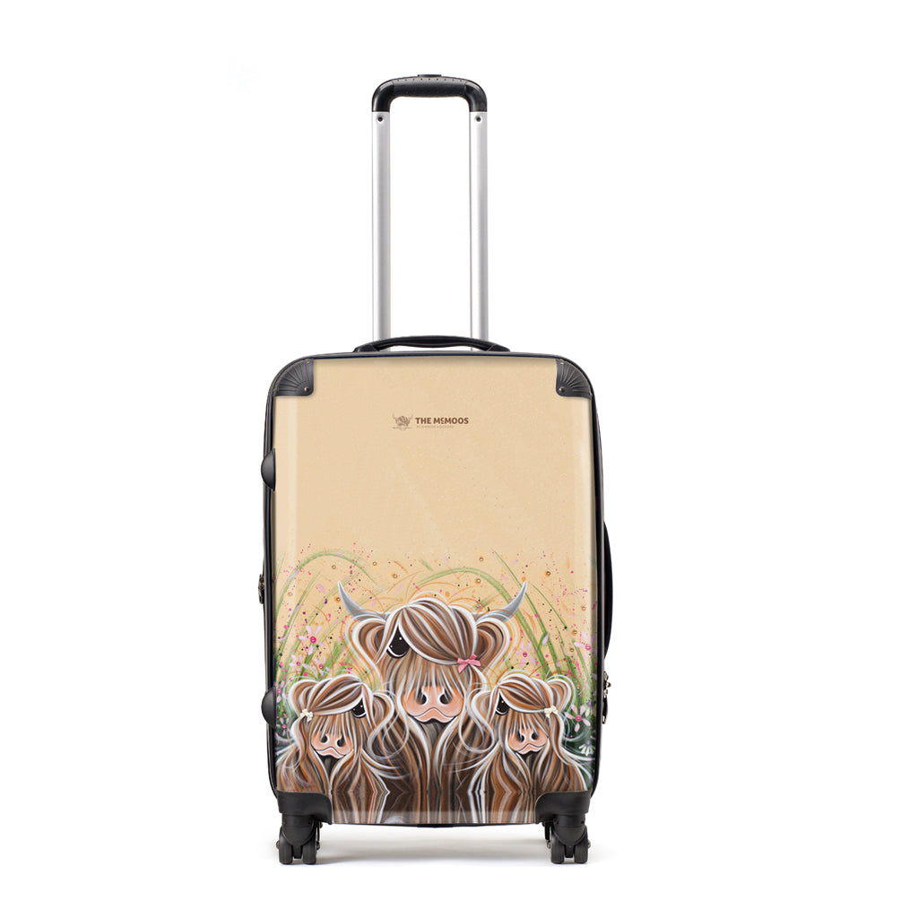 Jennifer Hogwood, The McMoos, Bow Peeps - Large Suitcase