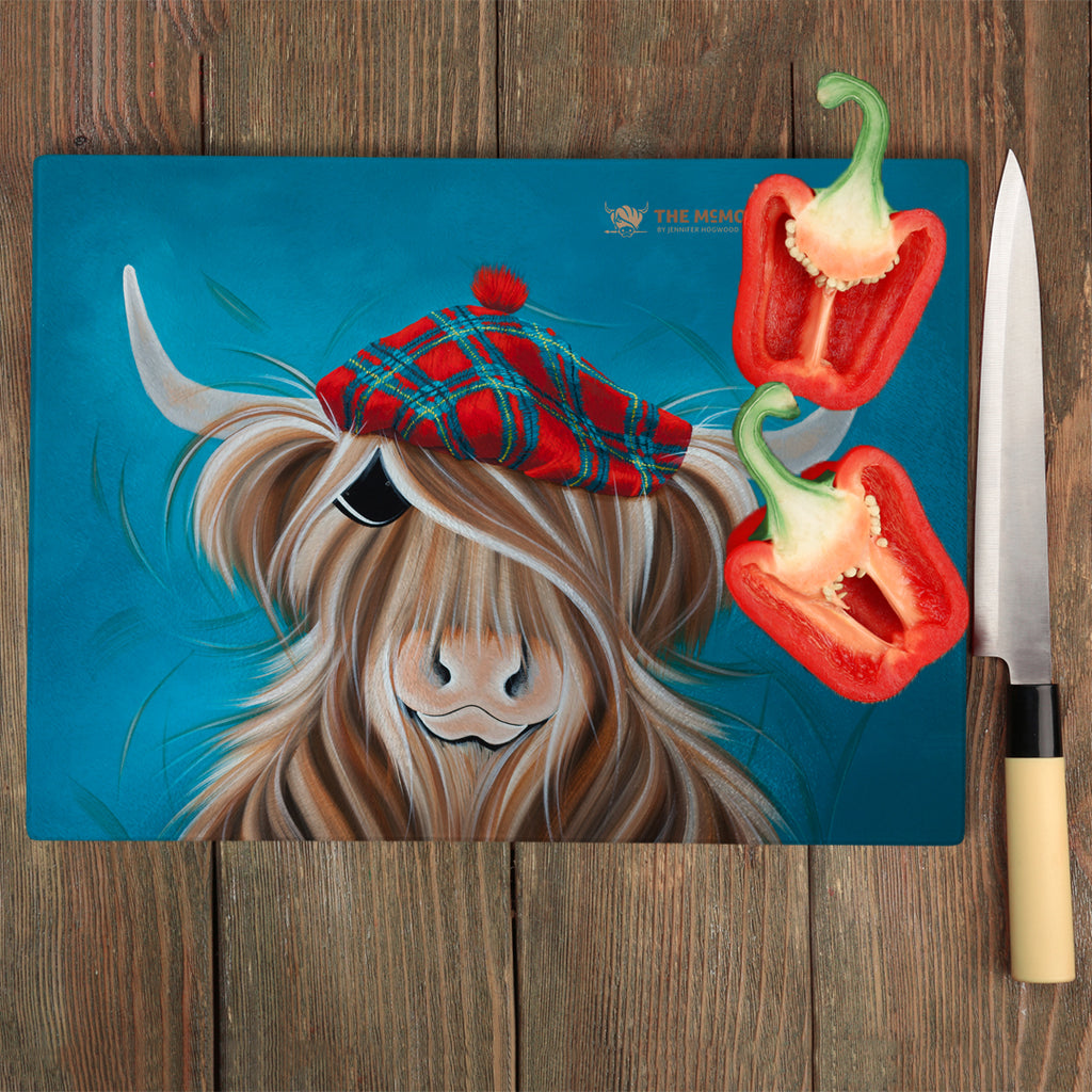 Jennifer Hogwood, The McMoos, Clyde - Glass Chopping Board