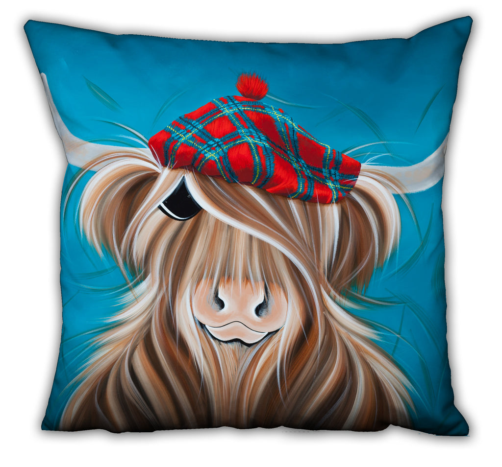 Jennifer Hogwood, The McMoos, Clyde - Suede Cushions