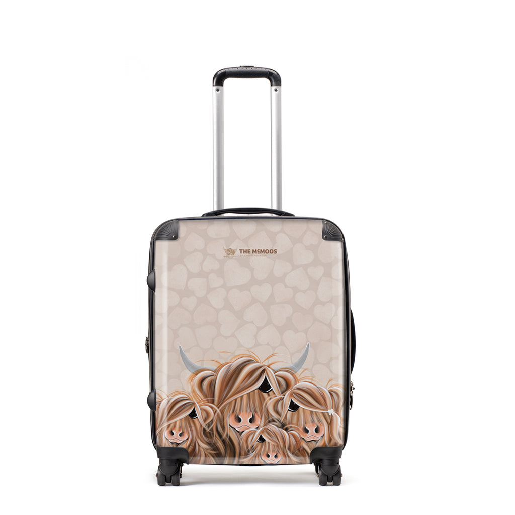 Jennifer Hogwood, The McMoos, Fa-Moo-Ly Forever - Medium Suitcase