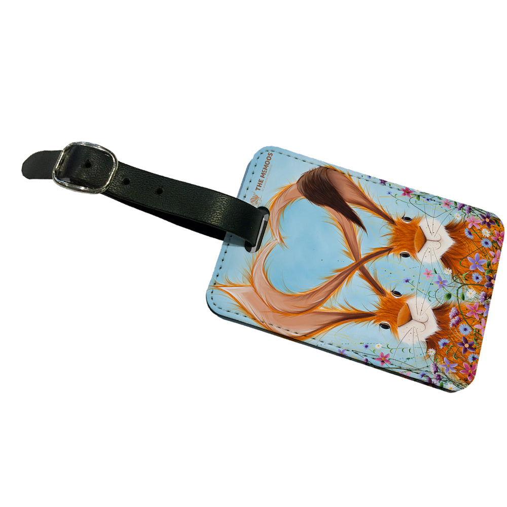 Jennifer Hogwood, The McMoos, Hares In Love - Luggage Tag