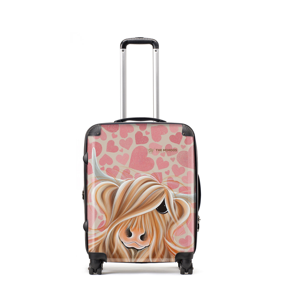 Jennifer Hogwood, The McMoos, Little Miss Love - Medium Suitcase