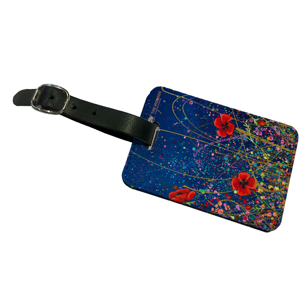 Jennifer Hogwood, The McMoos, Poppy Evening - Luggage Tag