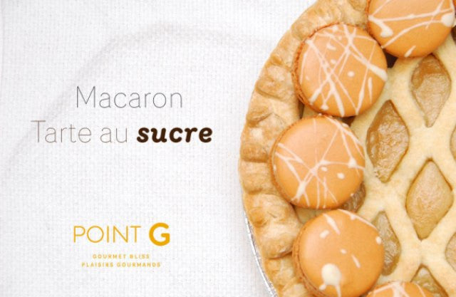 Satisfy your sweet tooth with our Sugar Pie macaron!