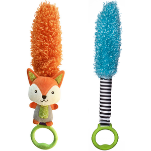 Yoee Baby Fox and Blue Sensory Feather Bundle