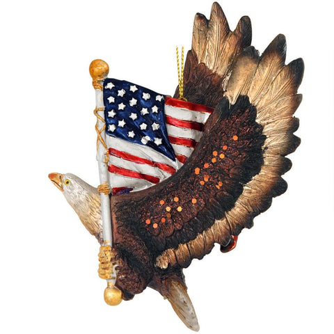Eagle and Flag Ornament