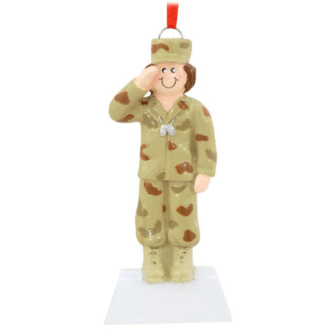 Female Military Figure Ornament