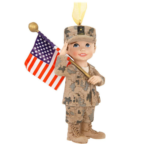 Army Kid Ornament