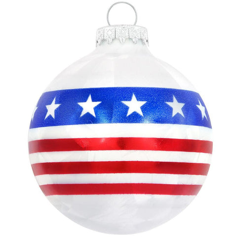 Stars And Stripes Flag Ice Crackle Ornament