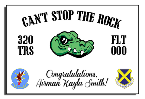 "320th ""Can't Stop the Rock"" Banner"