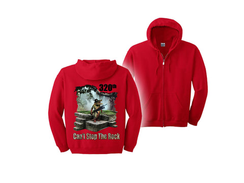 Air Force Hooded Zippered Sweatshirt 320 TRS RED