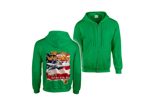Air Force Hooded Zippered Sweatshirt 321 TRS GREEN