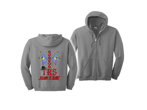 Air Force Hooded Zippered Sweatshirt 322 TRS GRAY