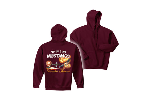 Air Force Hooded Pullover Sweatshirt 323 TRS MAROON