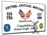"323rd ""Anytime.. Anyplace.. Mustangs!"" Banner"