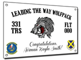 "331st ""Leading the Way Wolfpack!"" Banner"