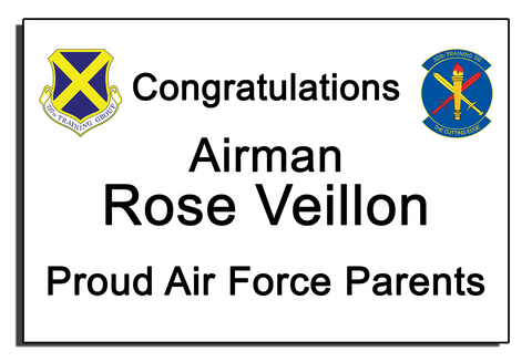 Air Force Graduation Banner - Text Only