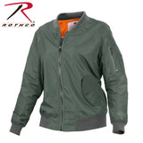 Rothco Womens Lightweight MA-1 Flight Jacket - Sage Green