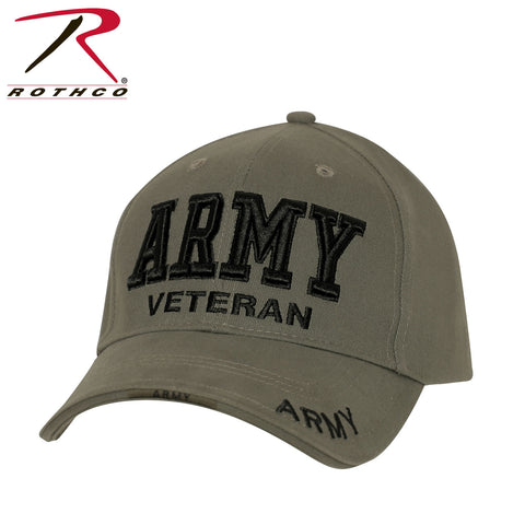 Rothco Deluxe Low Profile Army Veteran Cap - Olive Drab