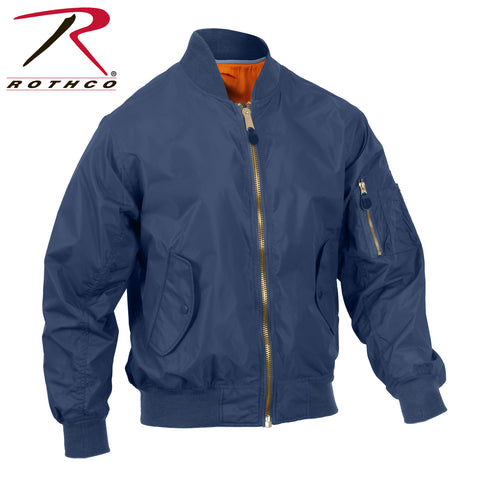 Rothco Lightweight MA-1 Flight Jacket - Navy Blue