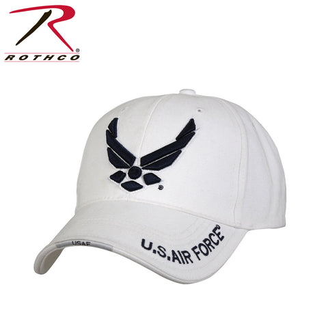 Rothco Deluxe U.S. Air Force Wing Low Profile Insignia Cap - White
