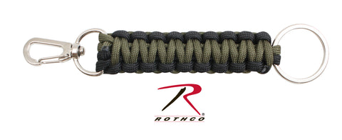 Rothco Paracord Keychain - Olive Drab and Black