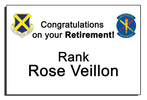 Air Force Retirement Banner - Text Only