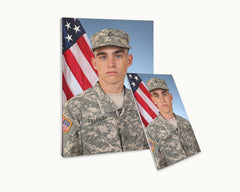 Army Canvas and Framing