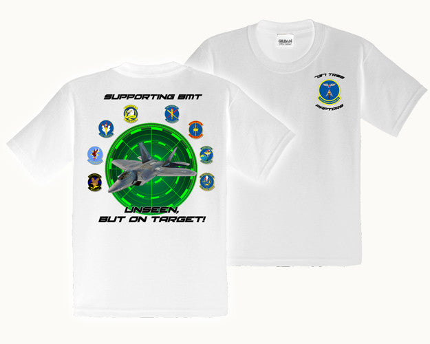 Air Force Tshirt 737 Support Squad Raptor White Basic Training Store