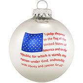 Pledge of Allegiance Flag Ornament