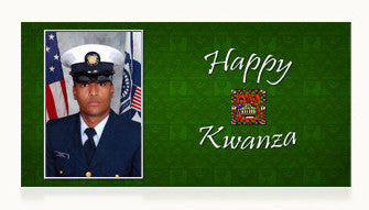 Coast Guard Happy Kwanza Cards