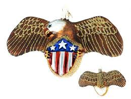 Old World Christmas' Eagle with Shield Ornament