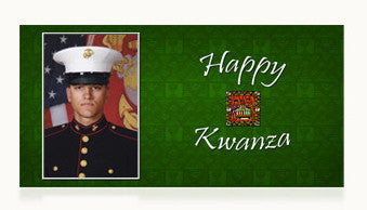 Marines Happy Kwanza Cards