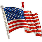 U.S. Flag Metal Ornament