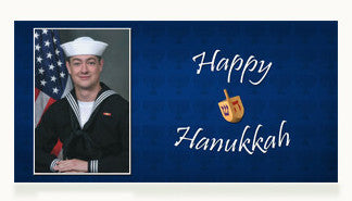 Navy Happy Hanukkah Cards