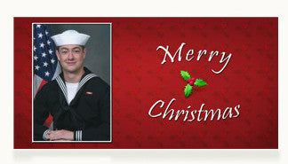 Navy Merry Christmas Cards