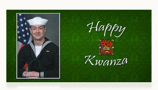 Navy Happy Kwanza Cards