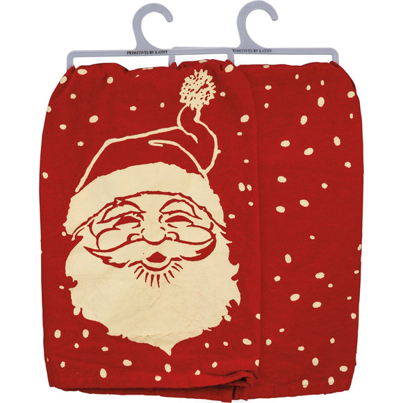 Red Santa Tea Towel