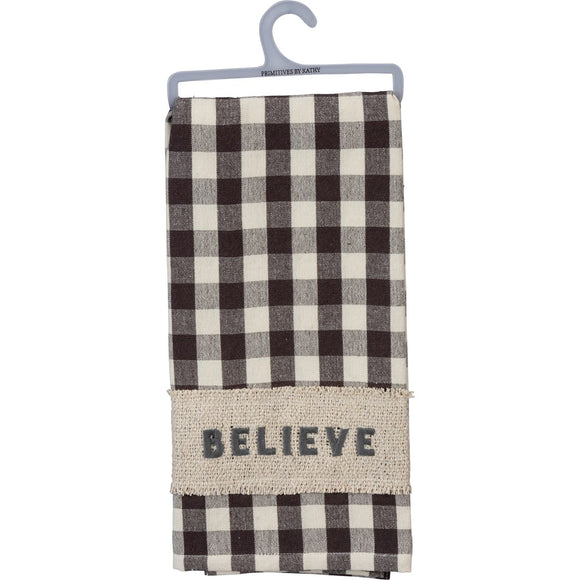 Believe Buffalo Check Tea Towel