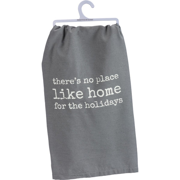 Grey No Place Like Home Tea Towel