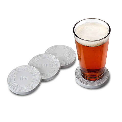 Ceramic Printed Beer Coaster Set