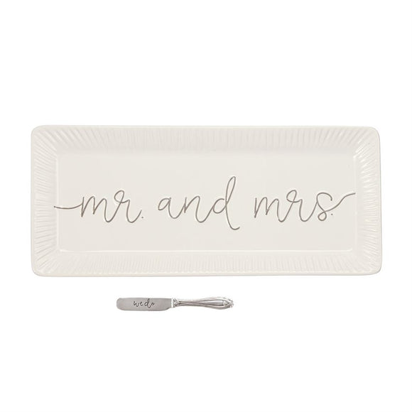 Ceramic Mr. & Mrs. Hostess Set