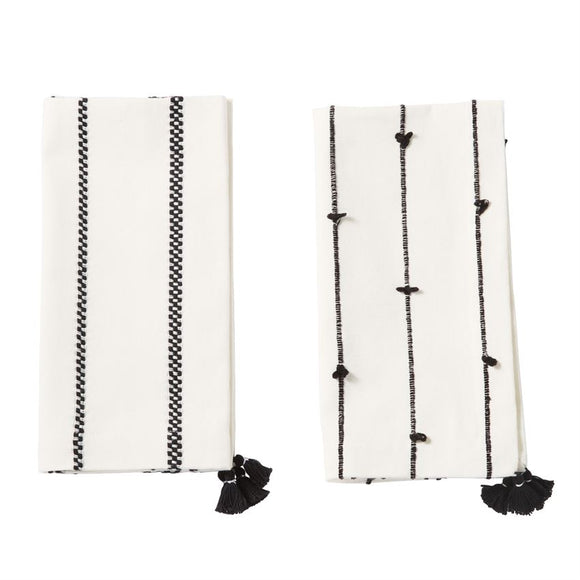 Black & White Tassel Napkin