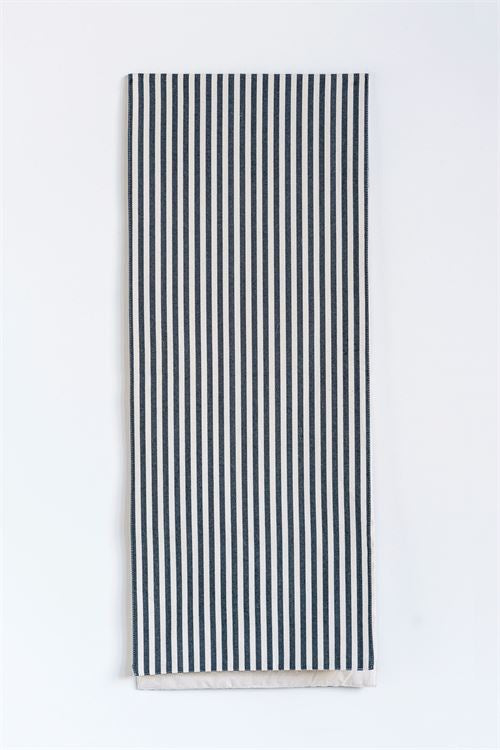 Black Stripe Cotton Runner