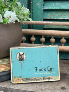 Vintage Black Cat Virginia Cigarettes Tin